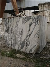 Arabescato Marble Blocks, White Marble Blocks