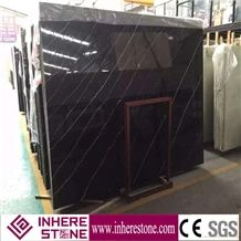 Nero Marquina Marble Slab, Big Slab for Sale