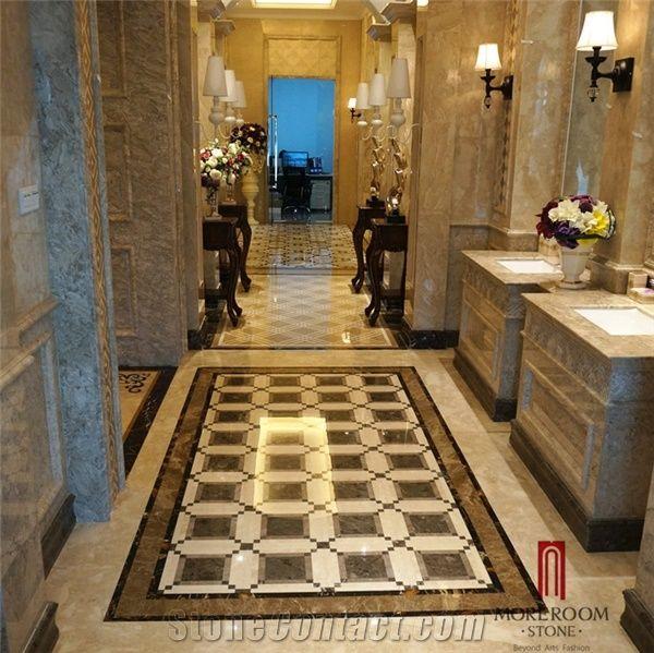 Spain Dark Emperador Marble Flooring Marble Tiles Water