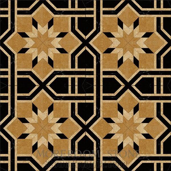 Spain Nero Marquina Mosaic Pattern