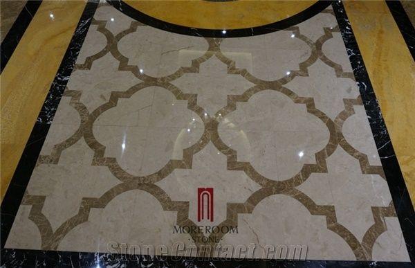 Turkey Auman Beige Marble Composited Marble Waterjet