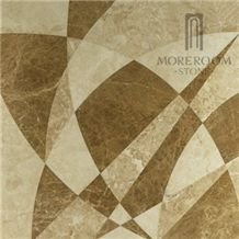 Turkey Burdur Cappuccino Light Marble Floor Tile New Products Modern House Turkish Marble Price Marble Medallion Home Decoration