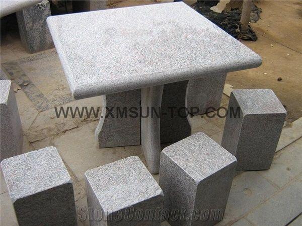 Black White Flower Granite Bench/Black White Flower Granite Table/Stone Table/Stone Bench/ Exterior Furniture/Stone Garden Tables/Outdoor Chairs/Street ... & Black White Flower Granite Bench/Black White Flower Granite Table ...