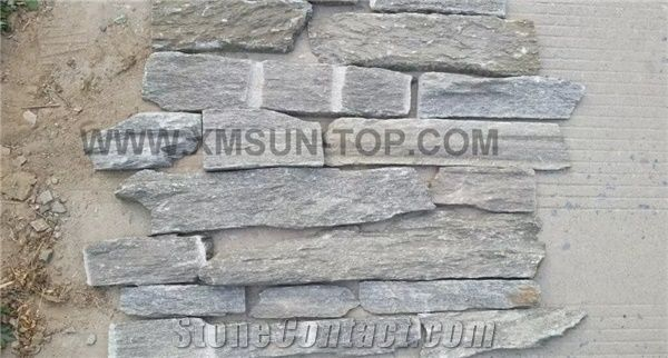 Ostrich Grey Slate Cultured Stone Fireplace Wall Cladding