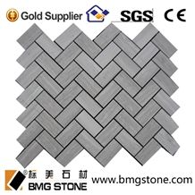 China White Serpeggiante Marble Mosaic Pattern