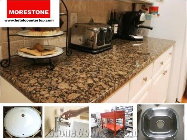 Castanho Verdoso Granite Baltic Brown Hotel Breakfast