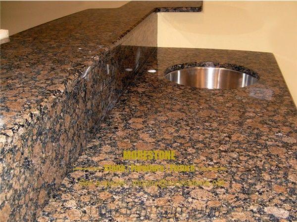 Granite Baltic Brown Condo Kitchen Countertop and Shelf ...