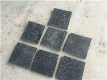 Chinese Natural Black Flamed Quartzite Slabs & Tiles