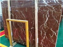 Coral Red Marble Slabs & Tiles, Chinese Rosa Alicante Marble