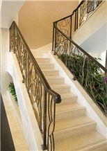 Crema Venato Marble Staircase