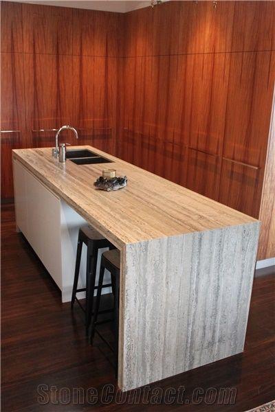 Travertino Silver Kitchen Desk Top From United Kingdom Stonecontact Com