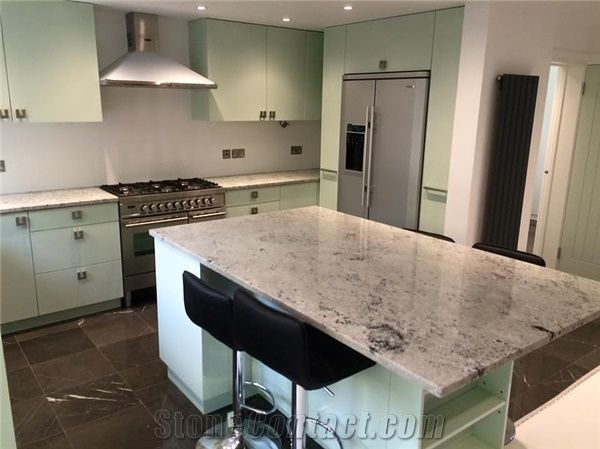 Colonial White Granite Kitchen Countertop From United