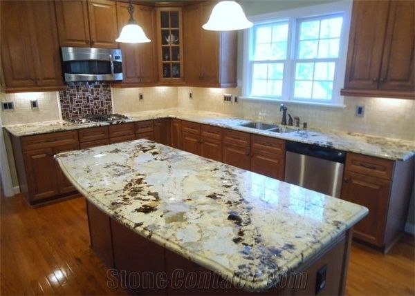 Crystal Yellow Granite Kitchen