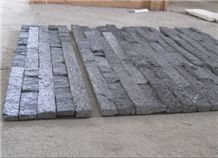Black Quartzite Cultured Stone, Ledge Stone,Stacked Stone, Wall Cladding Tile ,Veneer Panel, Z Shape, Interlocked