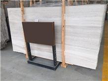 White Wood Marble Slabs & Tiles