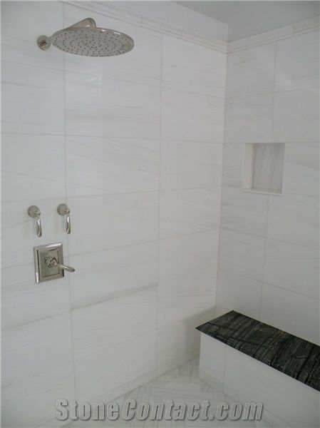 Bianco Dolomite Marble Bathroom Wall Tiles From United