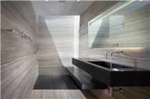 Travertino Noce Bathroom Design