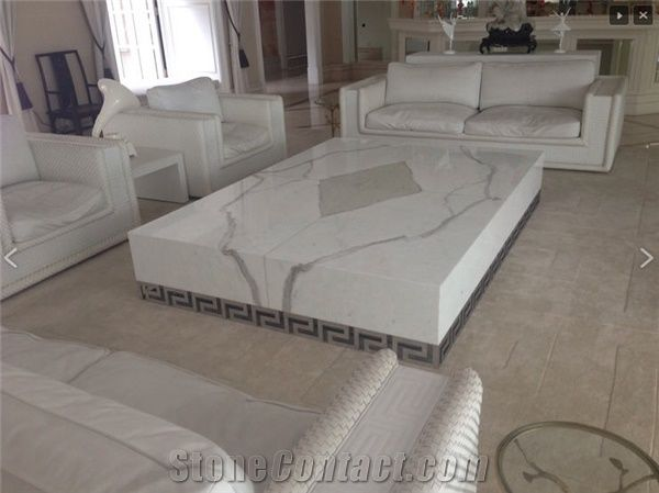 Calacatta Marina Marble Coffee Table From Singapore