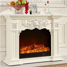 Home Decoration Elegant Natural Indoor Carved Marble Fireplace on Sale, White Marble Fireplace