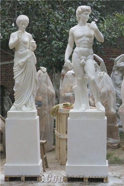 Marble Sculpture, Human Statues, Handcarved Sculptures, David