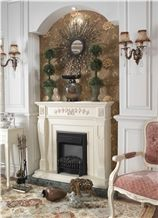 White Marble Fireplace,Factory Price Marble Fireplace Mantel