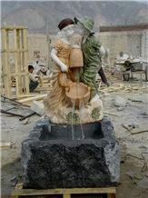 Garden Marble Sculpture Fountain, Western Baby Statue Fountain