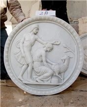 Hand Carving Marble Stone Wall Art Relief Decoration