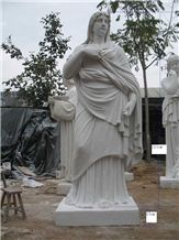 Large Size White Marble Stone Western Human Sculpture & Statue
