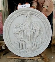 Stone Relief, Hand Carving White Marble, Hand Made Relief, Wall Relief