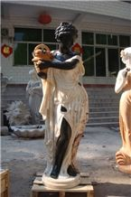 Western Marble Stone Black Woman Statues
