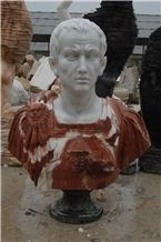 Western Style Home Decoration Hand Carving Famous Marble Man Bust Sculpture
