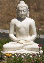 White Marbel Religious Buddha Sculpture & Statue