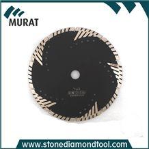 Turbo Diamond Saw Blade for Granite, Sandstone and Concrete Cutting