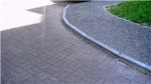 Granite Zheltau-5, Zheltau Red Granite Cobble Stone Walkway, Driveway Pavers