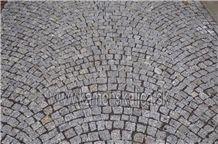 Grey Granite Cobble Stone Paving Sets
