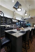 Kitchen Center Island with Granite Counter Top, Kitchen Countertops