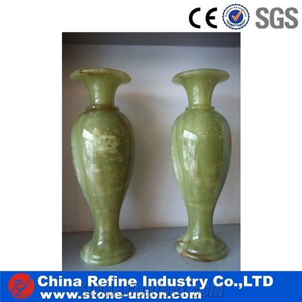 Classical China Green Onyx Vases Chinese Green Onyx Flower Vase