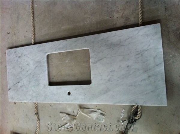 Bianco Carrara Venato C Marble Vanity Top,Carrara White Marble  Countertop,Bianco Carrara Marble Bathroom Tops
