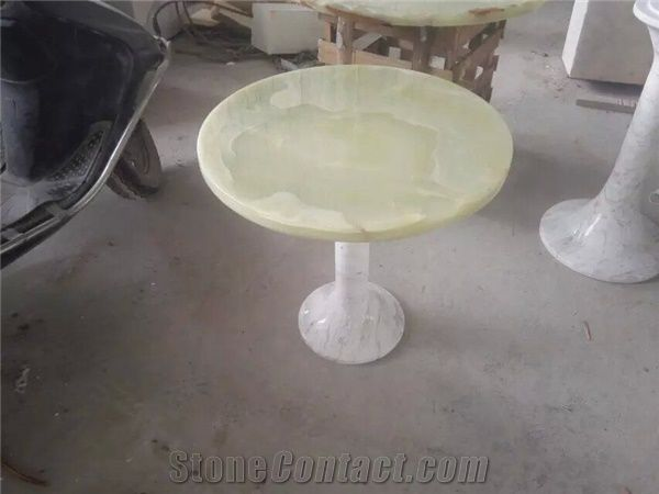 Multicolor Green Onyx Table Tops Round Top Stan