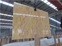 Cheap Orange Onyx Slab for Tv Wall, Elegant Yellow Onyx Slab