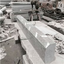 China Cheap Popular Light Grey G602 Bianco Crystal Granite Side Stone, Polished Surface Kerbstone with Bevel Edge, Road Curbstone, Natural Building Stone Outdoor, Factory Wholesale Good Price, Quarry