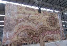 Golden Red Dragon Onyx Slab, Onyx Tv Wall