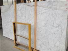 Popular Italian Bianco Carrara White Marble Polished Slabs & Tiles, Cheap White Marble with Grey Veins Flag Slabs, Natural Building Stone Indoor Decoration, Cheap Wholesale Price, Factory Nice Pattern
