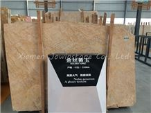 Polished Golden Topaz Marble Tiles & Slabs, Golden Chinese Marble for Wall, Flooring, Tiles,Etc