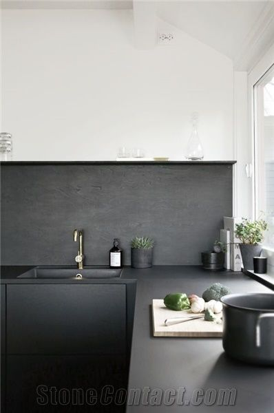 Black Color Quartz Stone Rock Solid Surface With Suede Texture For  Countertops And Vanity Tops Scratch Resistant And Stain Resistant