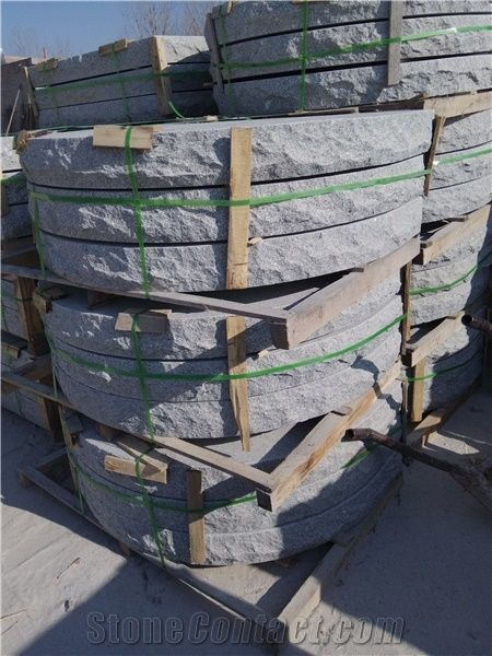 G341 Grey Granite Big Round Deck Stair Riser,Stair Treads,Steps Pavers