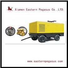 High Quality Diesel Driven Portable Screw Air Compressor, Diesel Driven Air Compressor, Portable Air Compressor, Quarry Air Compressor, Quarry Machinery, Stone Mining Machine Air Compressor Tjks-D22/8