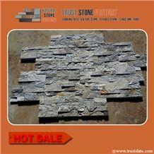 Factory Supply Grey Slate Nature Stone Siding,Cheap Ostrich Grey Slate Ledger Stone Siding,Fireplace Decoration Cultured Stone Facade,Stack Stone Veneer,Stone Panels