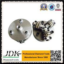Diamond Bush Hammer, D125 Bush Hammer for Granite Surface Polishing, Diamond Bush Hammer Plate