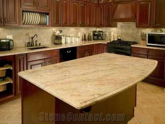 Cheap Granite Kitchen Countertop Yellow Granite Kitchen